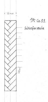 Entwurf schieferdeckung einer Säule