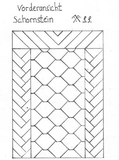 Schornstein ansicht 3 Schieferdeckung