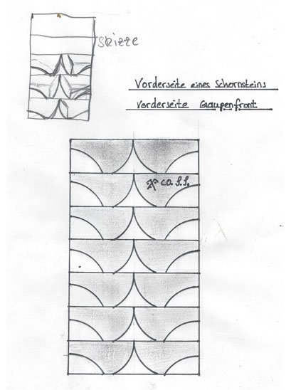 Vorderseite Schieferdeckung Schornstein oder Gaupe